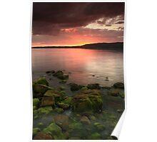 sunset at atlantic coast in ireland Poster