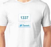Twitter Tweet Button Shirt - Vertical Count Unisex T-Shirt