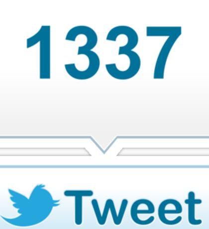 Twitter Tweet Button Shirt - Vertical Count Sticker