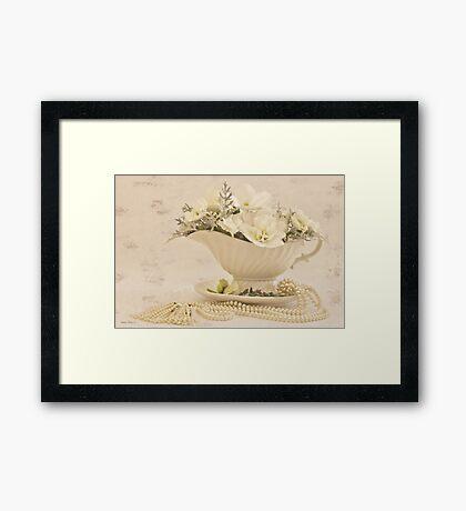 Gravy Boat Art Framed Print