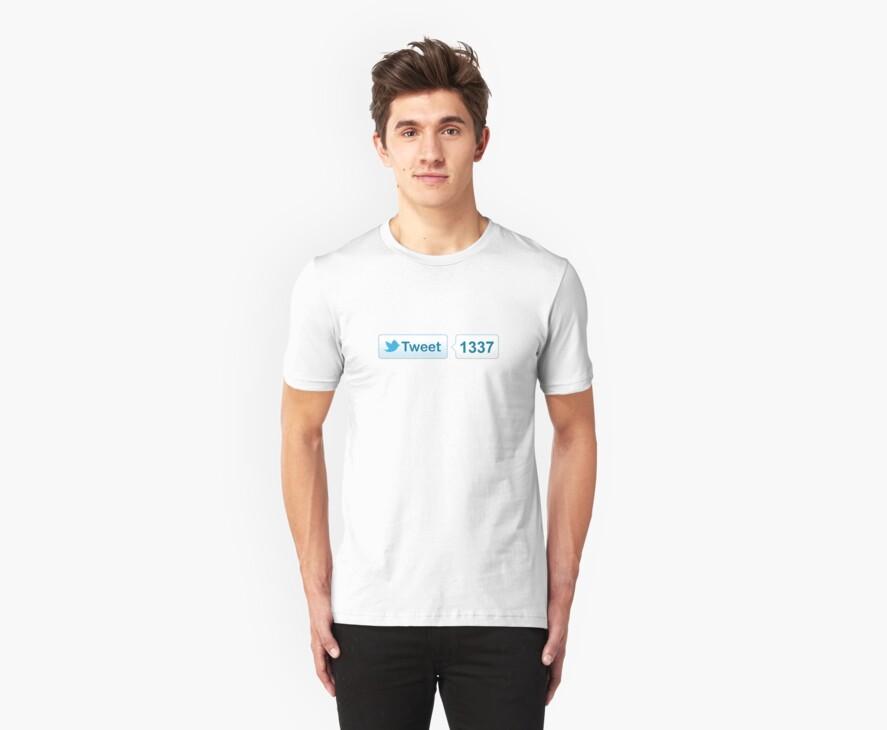 Twitter Tweet Button Shirt - Horizontal Count by likebutton