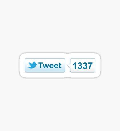 Twitter Tweet Button Shirt - Horizontal Count Sticker