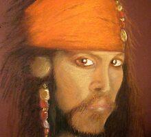 Captain Jack Sparrow by Hilary Robinson