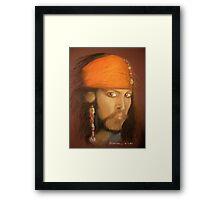 Captain Jack Sparrow Framed Print