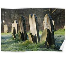 Gravestones in All Saints' Churchyard Poster