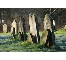 Gravestones in All Saints' Churchyard Photographic Print