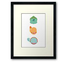 Minimalist Kanto Trio Framed Print