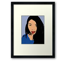 FUNNY GIRL! Framed Print
