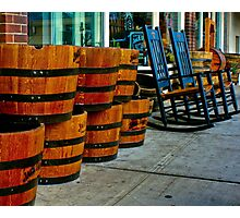 Barrels and Rocking Chairs Photographic Print