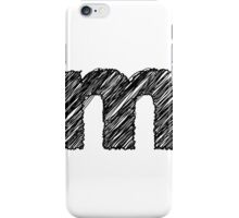 Sketchy Letter Series - Letter M (lowercase) iPhone Case/Skin