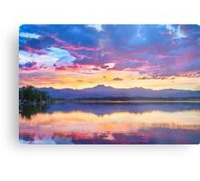 Colorful Sky Into The Rocky Mountain Night Metal Print