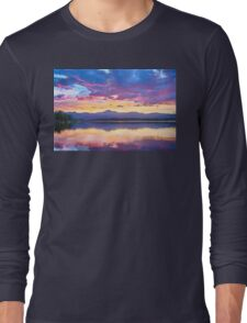 Colorful Sky Into The Rocky Mountain Night Long Sleeve T-Shirt
