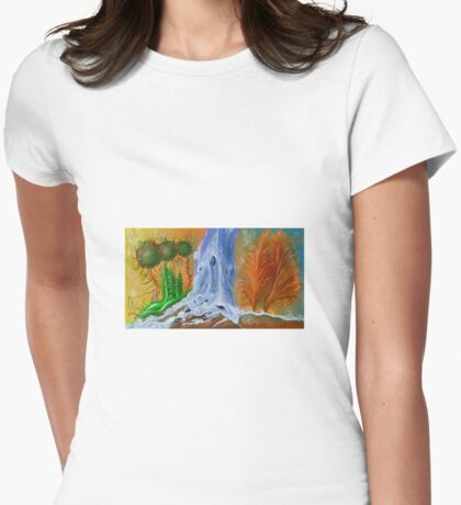 Dream world Womens Fitted T-Shirt