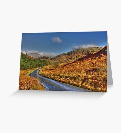 Duddon Valley Road  - Lake District Greeting Card