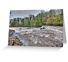 River Ure - Aysgarth-Yorks Dales Greeting Card