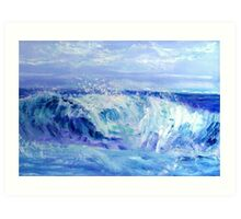 Blue Wave Art Print