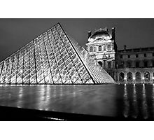 The Louvre at Night, Paris, France Photographic Print
