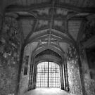 Gate House Interior in Black and White- Donnington Castle by Samantha Higgs