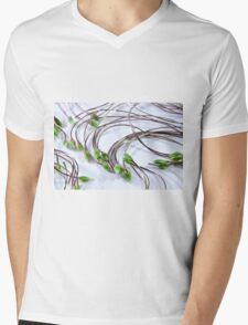 Clematis Seeds Macro  Mens V-Neck T-Shirt