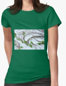 Clematis Seeds Macro  Womens Fitted T-Shirt