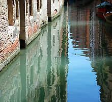 Venetian Canal / Reflection by Christopher Cullen