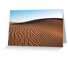 Saharan Dune Greeting Card