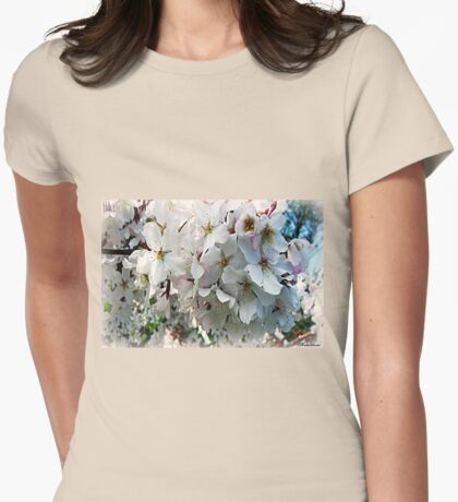 Blossoming Womens Fitted T-Shirt