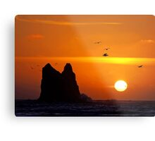 sunset activity at 'the notch', la push, washington, usa Metal Print