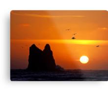 sunset activity at 'the notch', la push, washington, usa Metal Print