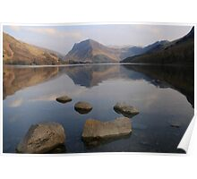 Foreground Rocks Buttermere Poster