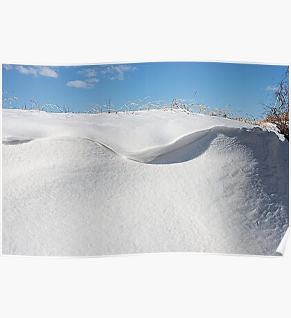 Snow Wave Poster