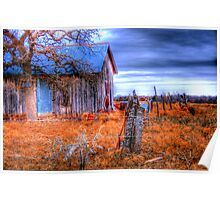 Old Barn - Montague County, Texas Poster