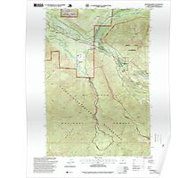 USGS Topo Map Oregon Rhododendron 281260 1997 24000 Poster
