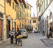 Early Morning Street Scene - Florence,  Italy  by T.J. Martin