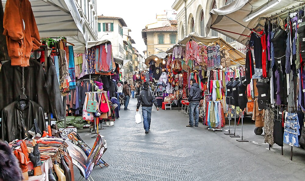 The Marketplace - Florence,  Italy by T.J. Martin