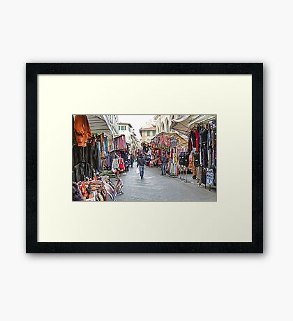 The Marketplace - Florence,  Italy Framed Print