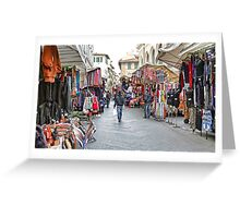 The Marketplace - Florence,  Italy Greeting Card