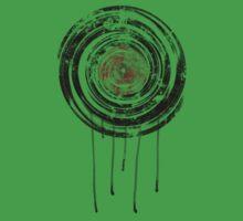Vinyl Records Retro Urban Grunge Design One Piece - Short Sleeve