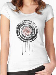 Vinyl Records Retro Urban Grunge Design Women's Fitted Scoop T-Shirt
