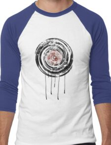Vinyl Records Retro Urban Grunge Design Men's Baseball ¾ T-Shirt