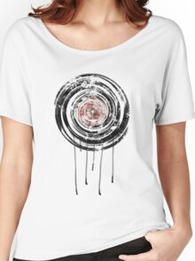 Vinyl Records Retro Urban Grunge Design Women's Relaxed Fit T-Shirt
