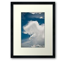 Brisbane Sky - Looking Up - January 03 2011 Framed Print