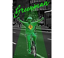 Green man on a Bike  Photographic Print