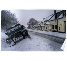 Landy in the ditch at Sandyway, Exmoor Poster