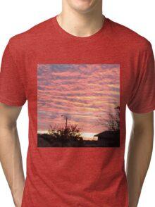 Sunset over pink  Tri-blend T-Shirt
