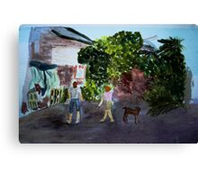 West End Shopping, Isla de Roatan Canvas Print