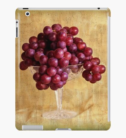 Grungy Grapes And Crystal  iPad Case/Skin