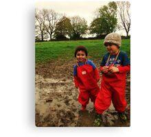 Muddy Play on the farm! Canvas Print