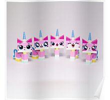 Five cute kitties Poster