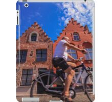 Cyclist in Bruges iPad Case/Skin